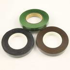 Florist tape, Paper, black, brown, green, 29m x 1.2cm, 3 pieces