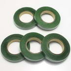 Florist tape, Paper, green, 29m x 1.2cm, 5 pieces