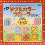 30 colours tones double color flora origami, 6 inch (15 cm) square, 150 sheets