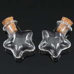 Glass bottles, Colourless, 2.2cm x 1cm x 2.4cm, 1 piece