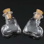 Glass bottles, Colourless, 2cm x 0.8cm x 2.4cm, 1 piece