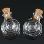 Glass bottles, Colourless, 2cm x 1.1cm x 2.4cm, 1 piece