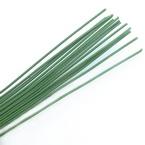 Florist wires, Dark green, 15 pieces, Length 40cm, Diameter 1.6mm (approximate), Gauge 14