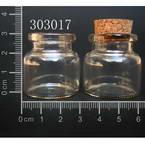Glass bottles, Colourless, 30mm x 30mm x 30mm, 10ml, 2 pieces