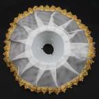 Flower holder, Plastic + Polyester, 24cm x 24cm x 5.5cm, 1 piece