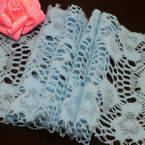Fluffy Ribbons, Cloth, blue, 100cm  x 12cm (approximate)