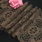Fluffy Ribbons, Cloth, Light brown, 100cm  x 12cm (approximate)