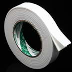 Double sided sticky tape, Sponge foam, white, 3.5m x 2.5cm