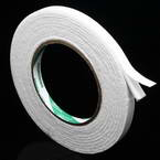 Double sided sticky tape, Sponge foam, white, 3.2m x 1cm