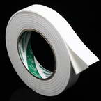 Double sided sticky tape, Sponge foam, white, 3.5m x 3cm