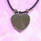 Steel heart necklace