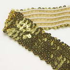 Elastic Sequin trimmings, Polyester and Sequins, Silver colour, 1m x 4.5cm