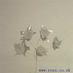 Miniature silk flowers, Silver swirl rose (mf10)