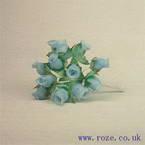 Miniature silk flowers, Blue rose (mf2)