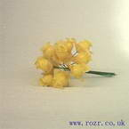 Miniature silk flowers, Yellow rose (mf7)