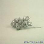 Miniature silk flowers, Silver rose (mf8)