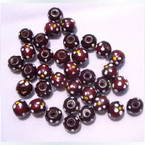 Beads, Wood, Dark red, Spherical, Diameter 10mm, 20 Beads