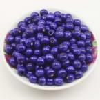 Beads, Wood, Dark purple, Round shape, Diameter 8mm, 100 Beads