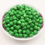 Beads, Wood, green, Round shape, Diameter 8mm, 100 Beads