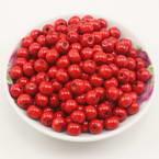 Beads, Wood, Pinkish red, Round shape, Diameter 8mm, 100 Beads