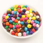 Beads, Wood, Assorted colours, Round shape, Diameter 8mm, 100 Beads