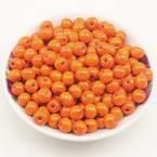 Beads, Wood, orange, Round shape, Diameter 8mm, 15g, 100 Beads