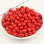 Beads, Wood, red, Round shape, Diameter 8mm, 15g, 100 Beads