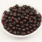Beads, Wood, brown, Round shape, Diameter 8mm, 15g, 100 Beads