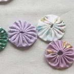 Yoyo flower embellishment