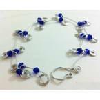 Wire frame floral bracelet