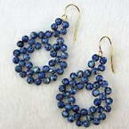 Swirl bead earrings