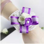 Wrist flower ribbon