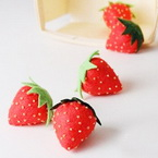 Fabric strawberry