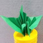 Origami fan-tail crane