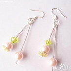 Imitation pearl earrings