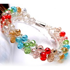 Faceted beads bracelets