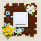 Fabric embellishment for light switch