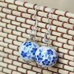 Porcelain beads earrings