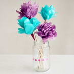 How to make flowers from tissue paper