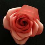 Ribbon Rose with Hair Slide