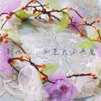 Organza Flower Wreath