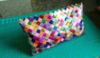 Pearlescent paper bag