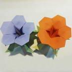 Origami trumpet flower