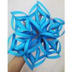 Origami snow flower