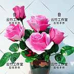 Pink roses, nylon flowers