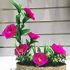 Blooming Purple Peony, nylon flowers