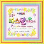 Pastel coloured Paper L, 6 inch (15 cm) square, 24 sheets