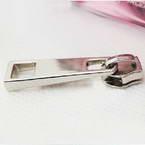 Zip fasteners for bag making, Zinc alloy, Silver colour, 4.1cm x 1 cm, 1