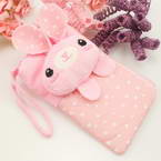 Bag for holding mobile phone., Cloth, pink, 13.5cm x 8cm, 1 piece