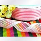 Organza ribbon, pink, 4cm x 1m, 1 piece